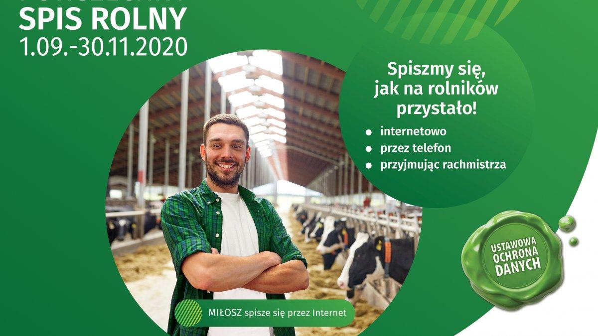 Na zdjęciu plakat promujący Powszechny Spis Rolny