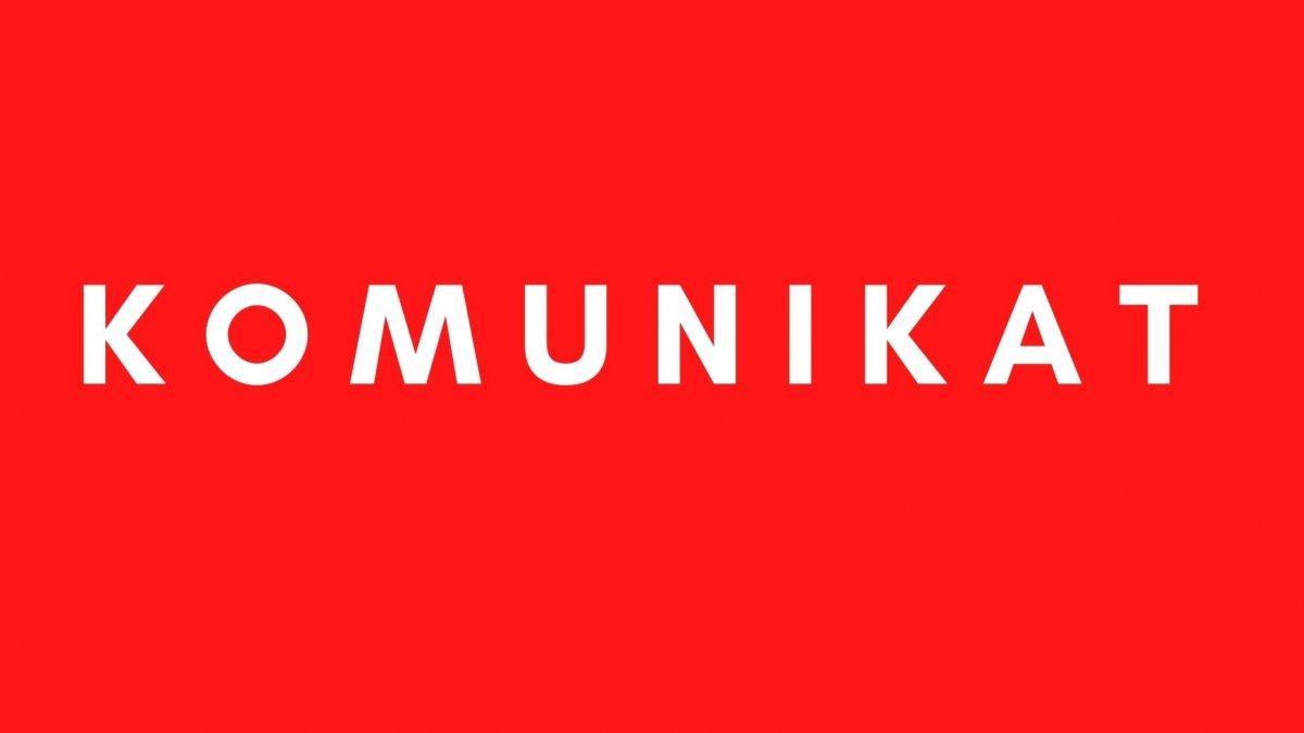"na zdjęciu grafika ze słowem ""komunikat"""