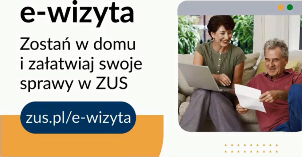 na zdjęciu plakat promujący akcję e-wizyty