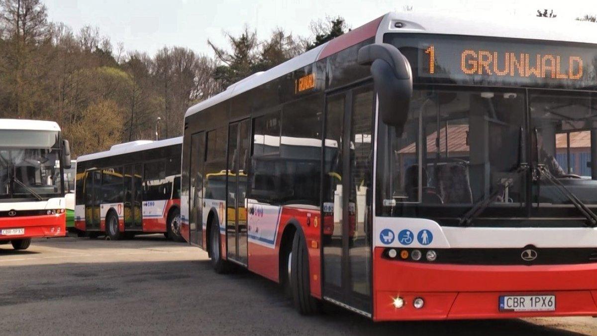na zdjęciu autobus komunikacji miejskiej