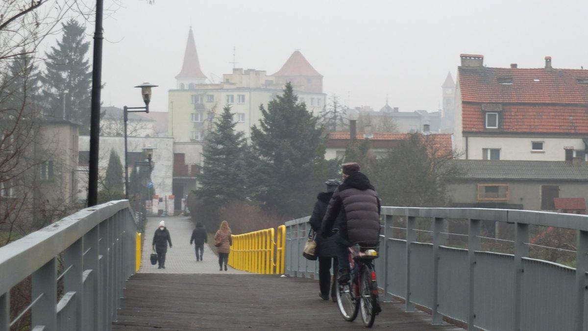 Na zdjęciu kładka nad rzeką Drwęcą