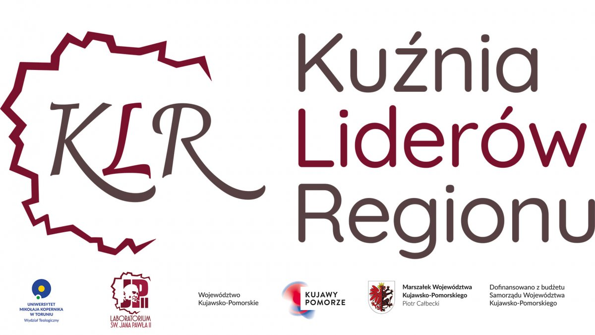 """na zdjęciu: baner """"Kuźnia Liderów Regionu"""""""