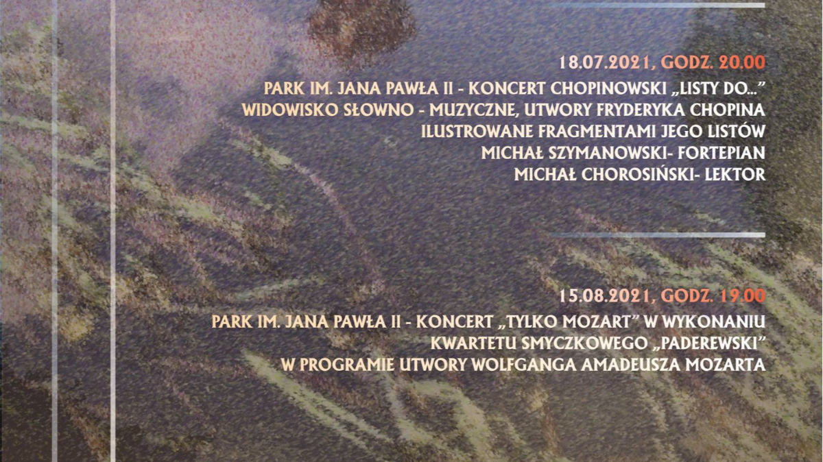 Na zdjęciu plakat koncertów.