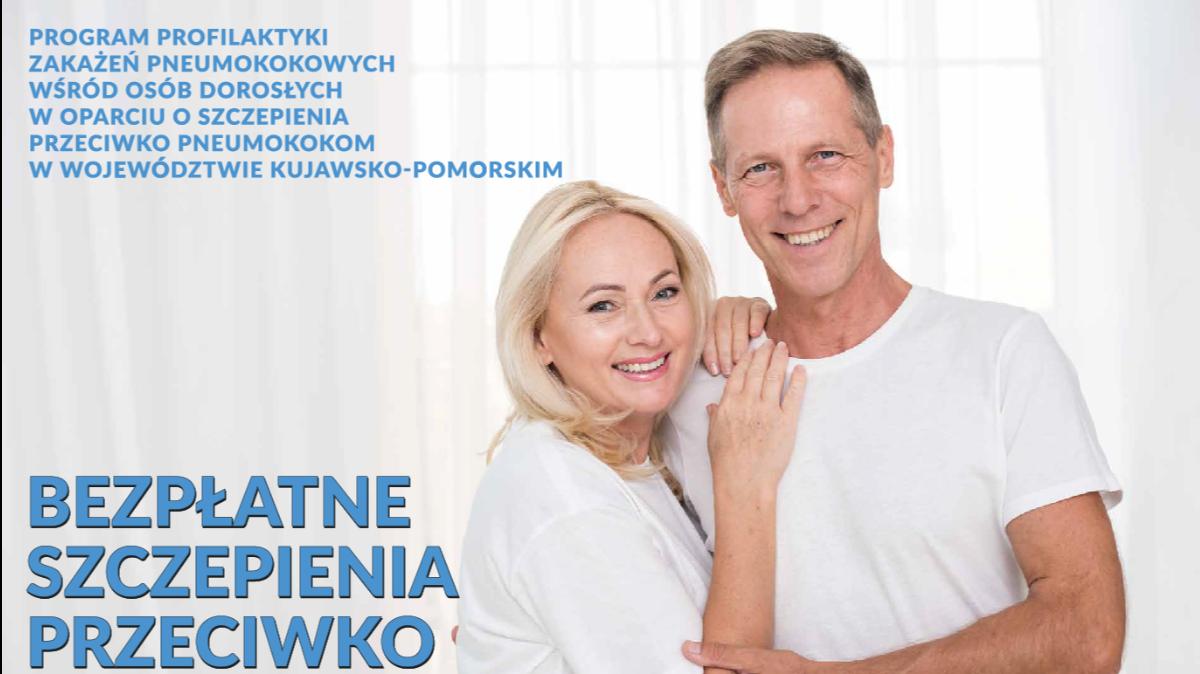 Na zdjęciu plakat promujący szczepienia przeciwko pneumokokom.