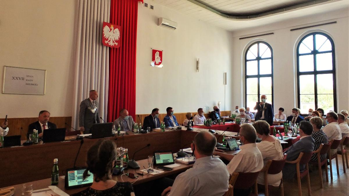Na zdjęciu obrady Sesji Rady Miejskiej w Brodnicy