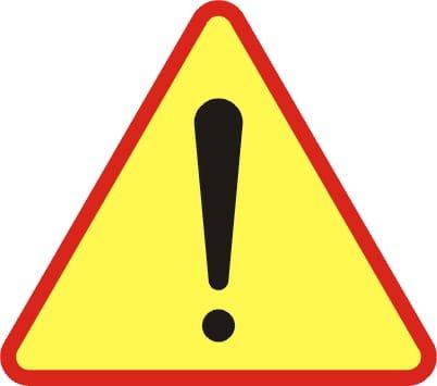 na zdjęciu: znak drogowy ostrzegawczy