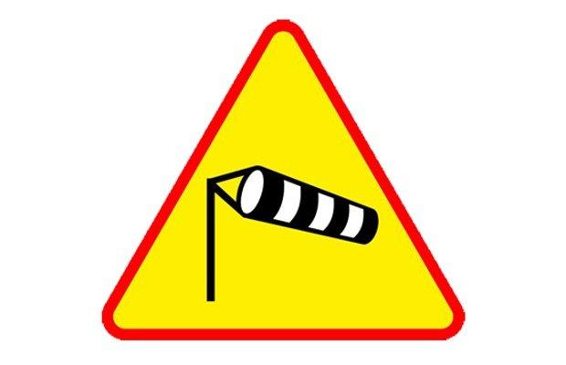 Silny wiatr - ostrzeżenie
