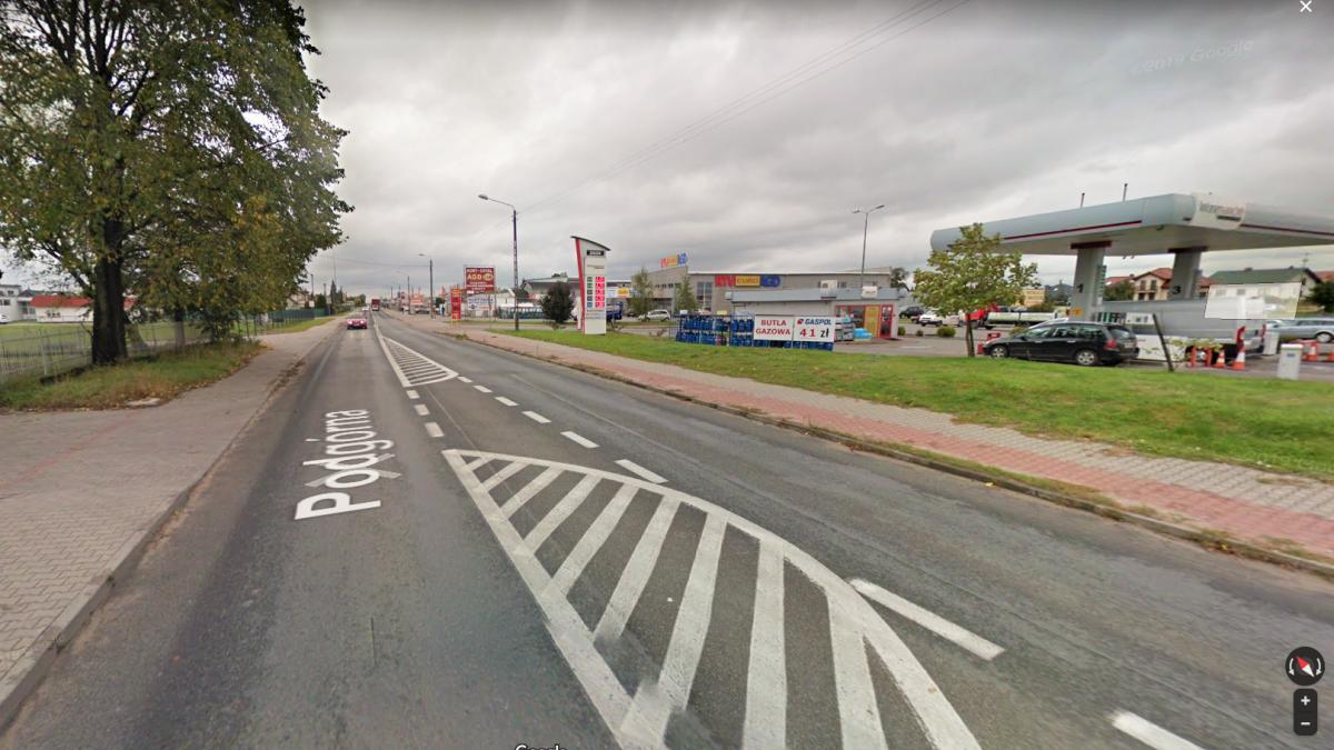 Na zdjęciu ulica Podgórna w Brodnicy