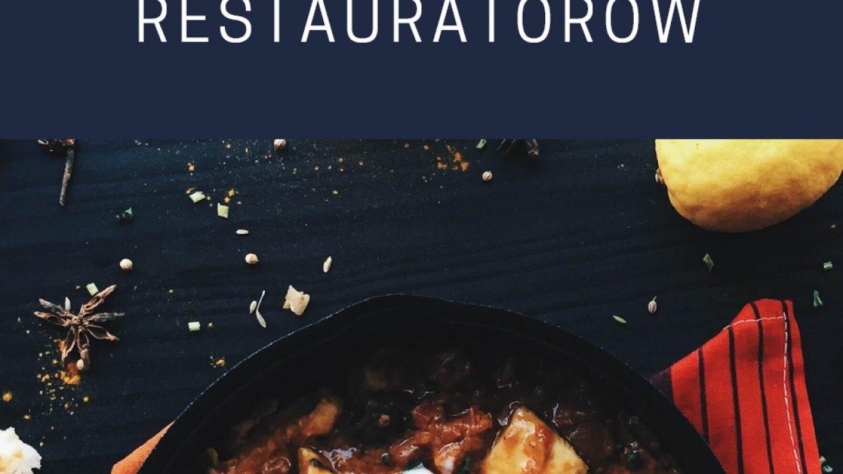 na zdjęciu plakat z napisem wspierajmy brodnickich restauratorów