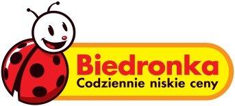 na zdjęciu  logo Biedronki