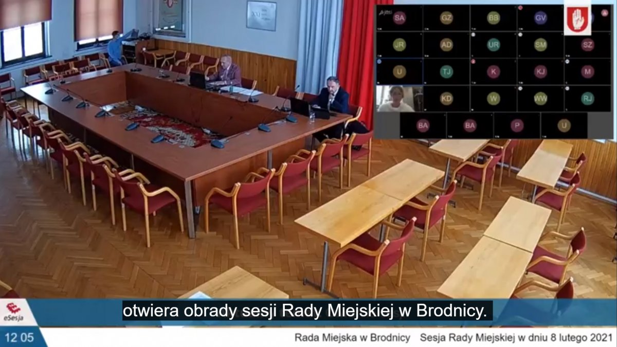 Na zdjęciu sala sesyjna w Urzędzie Miejskim w Brodnicy