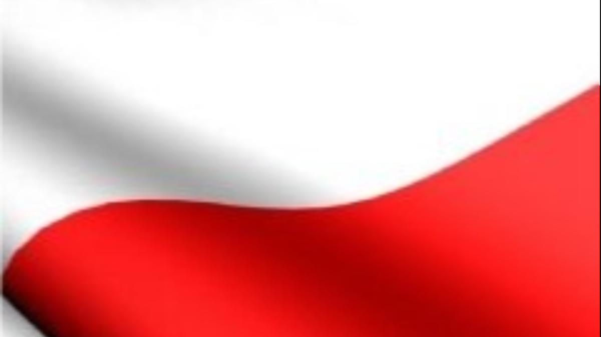 Na zdjęciu flaga Polski.