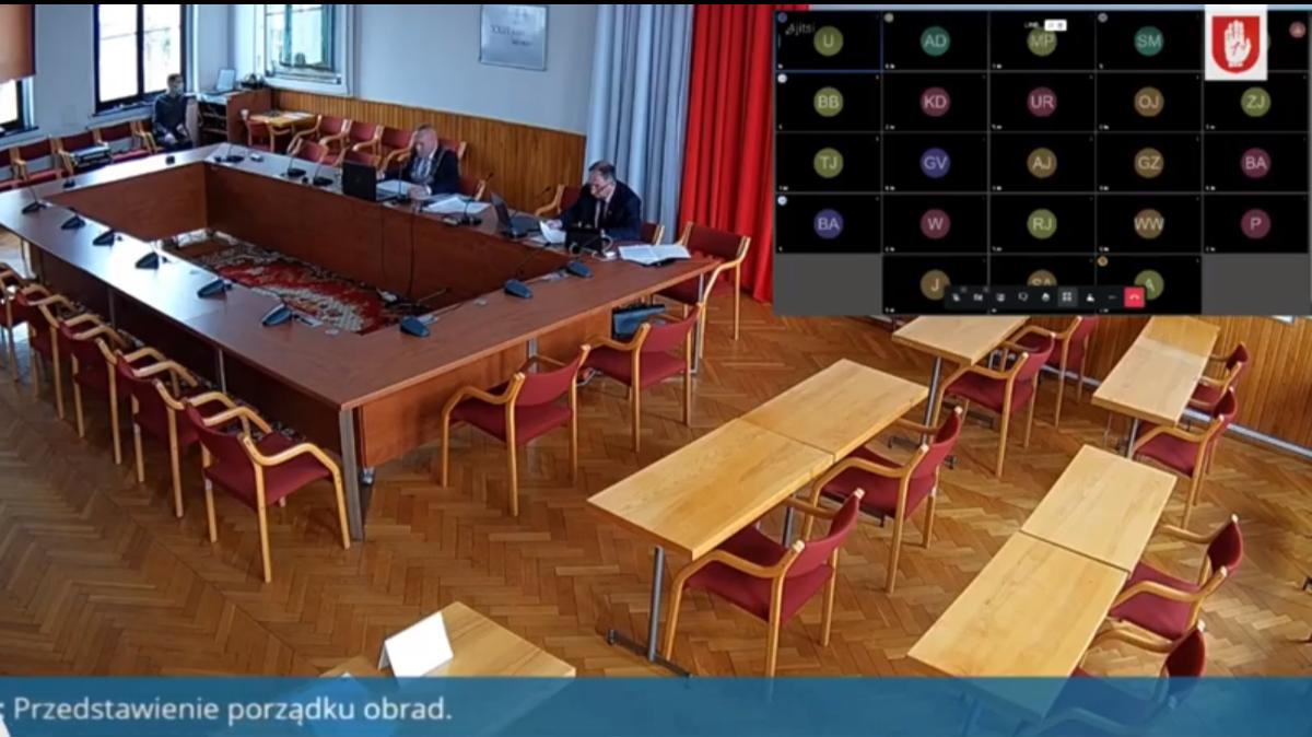 Na zdjęciu sala sesyjna Urzędu Miejskiego w Brodnicy