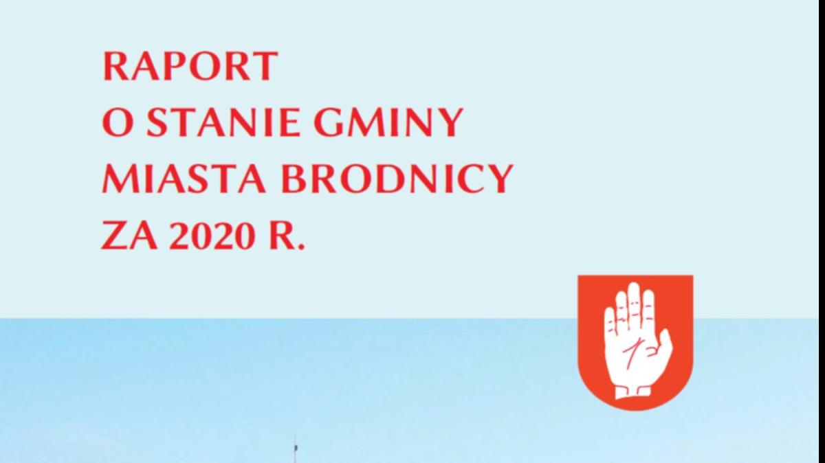 na zdjęciu: okładka Raportu o stanie Gminy Miasta Brodnicy
