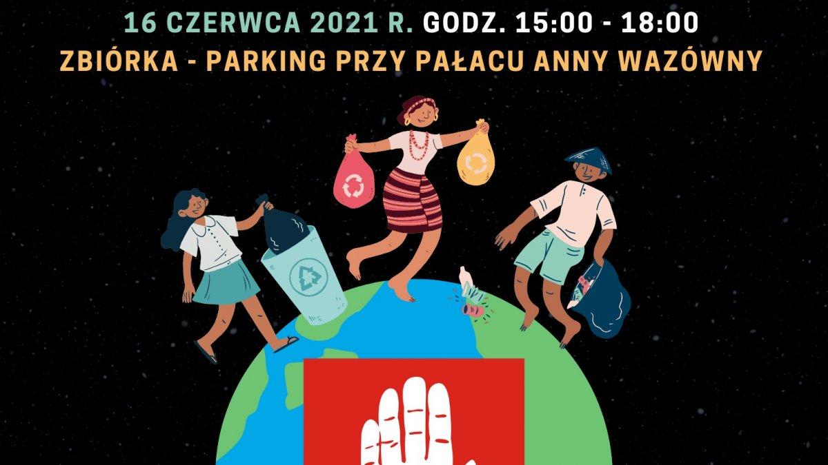 na zdjęciu: plakat akcji Czysta Brodnica to nasza sprawa