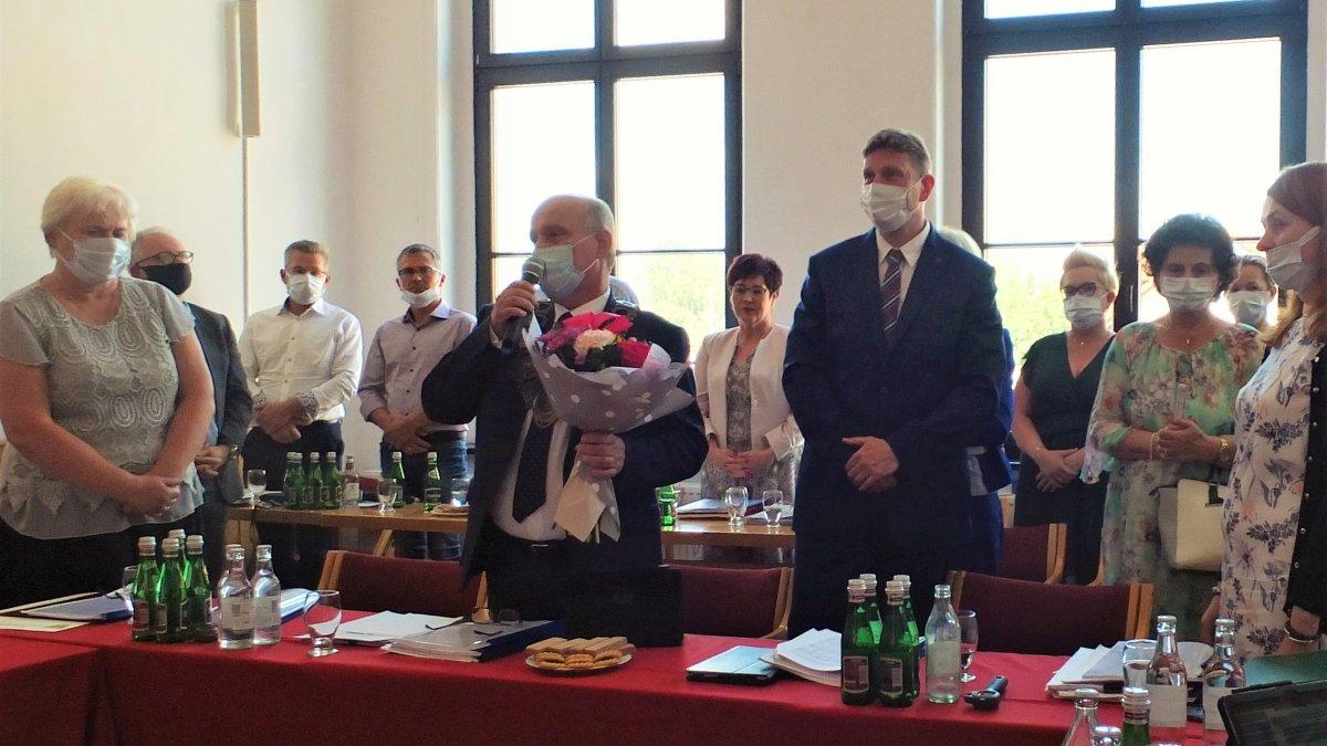 Na zdjęciu Burmistrz Brodnicy Jarosław Radacz oraz zastępca Burmistrza Brodnicy Krzysztof Hekert podczas Sesji Rady Miejskiej w Brodnicy