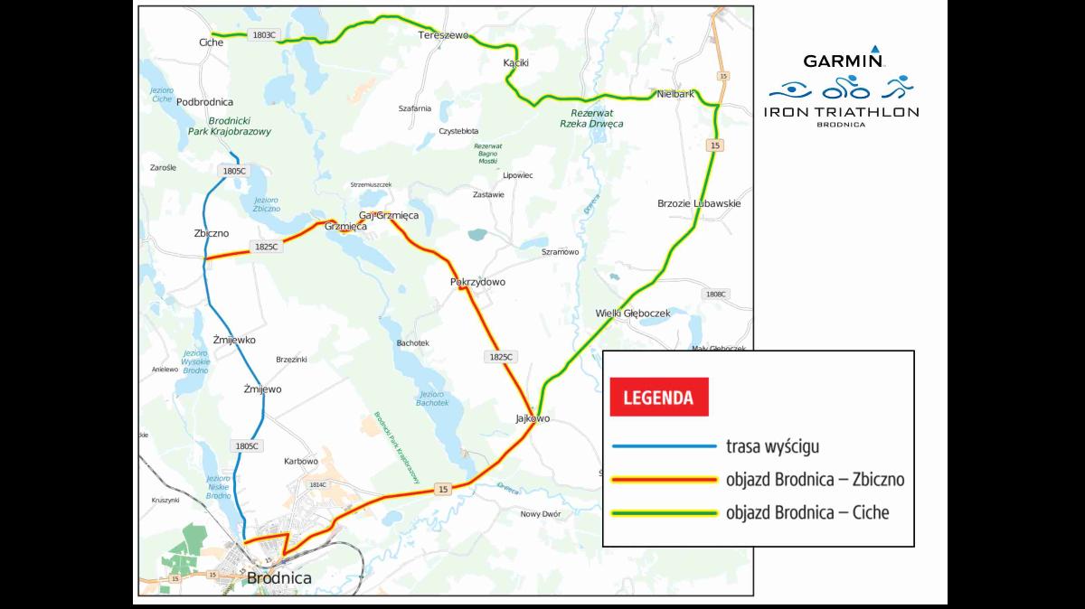 Garmin Iron Triathlon – utrudnienia w ruchu