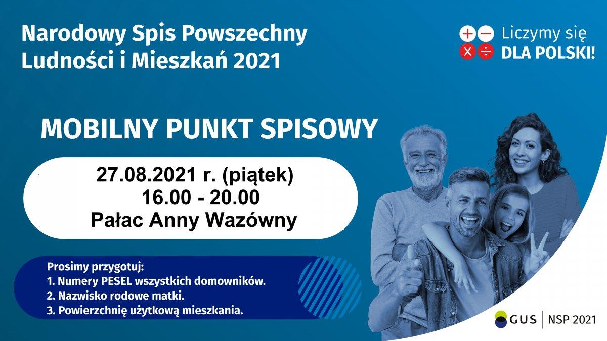 na zdjęciu: baner  Narodowego Spisu Powszechnego Ludności i Mieszkań...