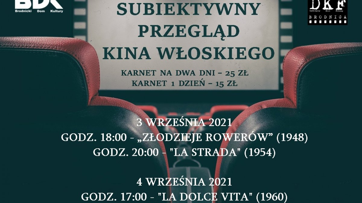 na zdjęciu: plakat kina włoskiego