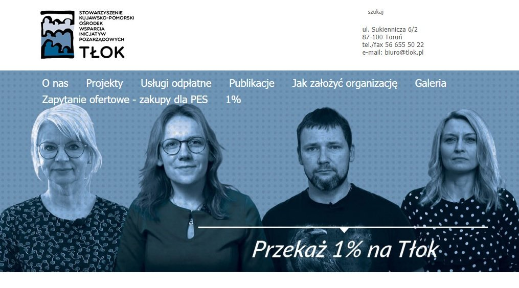 na zdjęciu: liderzy działający w Tłoku